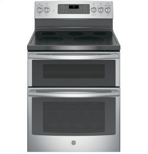 "GE® 30"" Free-Standing Electric Double Oven Convection Range Product Image"