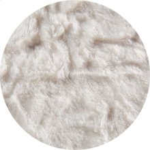 Cover for Pillow Pod or Footstool - Faux Fur - White
