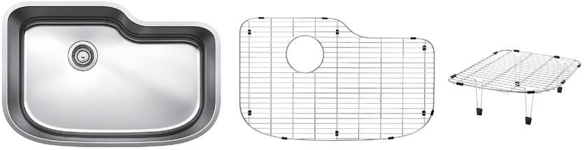 Blanco One XL Single Bowl Kit 5 - Multi-level - Satin Polished Finish