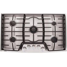 36 Gas Cooktop with the Professional Look of Stainless Steel