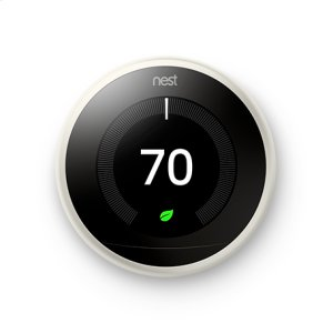Nest Learning Thermostat - 3rd generation, White: 2 pack