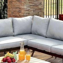 Evita Patio Sectional W/ Corner Chair