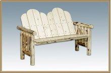 Montana Log Deck Bench