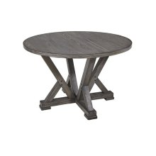 Round Dining Table - Harbor Gray Finish