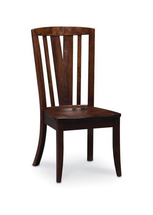 Geneva Side Chair, Leather Cushion Seat
