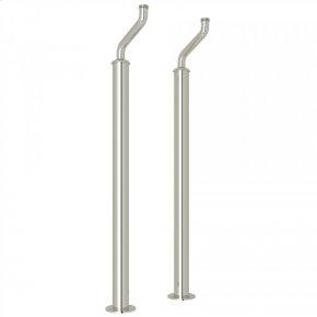 Polished Nickel Perrin & Rowe Pair Of Floor Pillar Legs Or Supply Unions