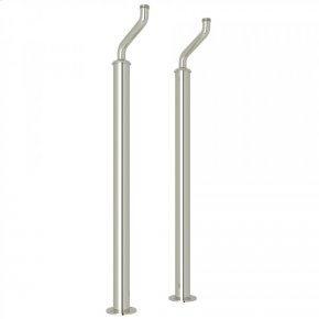 Polished Nickel Perrin & Rowe Pair Of Floor Pillar Legs or Supply Unions
