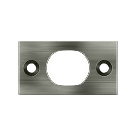"Strike Plate For 6"" Flush Bolt - Antique Nickel"