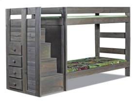 WAL40411A  Twin/Twin Staircase Bunk Bed