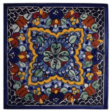 "4"" Quatrefoil Decorative Talavera Tiles"