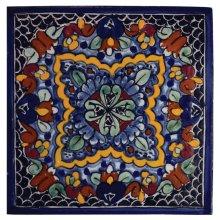 "4"" Quatrefoil Decorative Talavera Tiles"