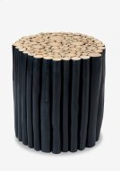 Prelude Round Stool Natural Navy Blue Small. 15x15x16 Product Image