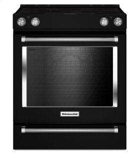 30-Inch 5-Element Electric Convection Slide-In Range with Baking Drawer - Black