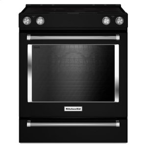 30-Inch 5-Element Electric Convection Slide-In Range with Baking Drawer - Black - BLACK