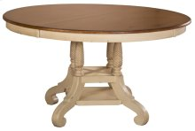 "Wilshire Round Dining Table w/18"" Leaf"
