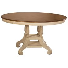 """Wilshire Round Dining Table w/18"""" Leaf"""