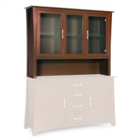 "Loft Open Hutch Top, 60"", Antique Glass Product Image"