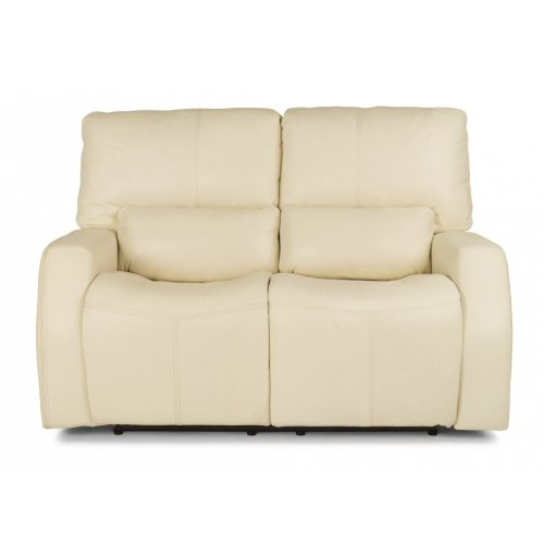 Cooper Leather Power Reclining Loveseat with Power Headrests