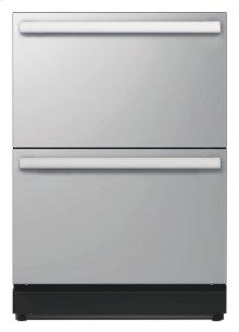 24 3/16 Under-counter Double Drawer Refrigerator Masterpiece Handle T24UR810DS