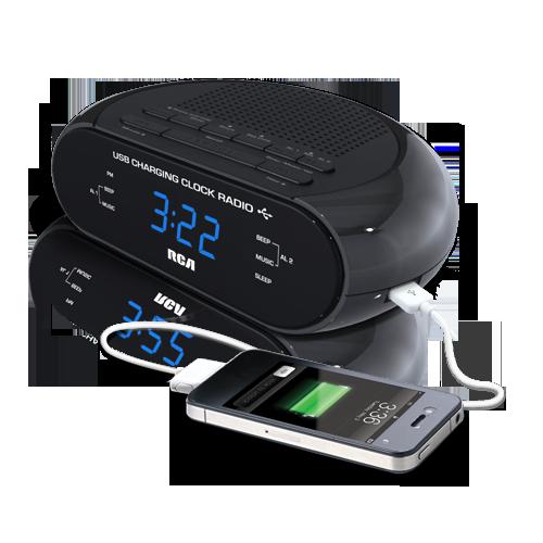 USB charging clock radio
