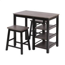 Mcconnell Grey Brown Acacia for Top Dining Set
