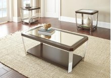 """Truman End Table 22'x 24""""x 24""""[stainless steel]"""