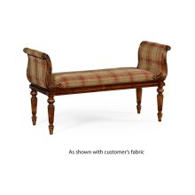 Neo-Classical Walnut Bench (COM)