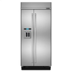 "Jenn-Air® Built-In Side-By-Side Refrigerator with Water Dispenser, 48"" - Stainless Steel"