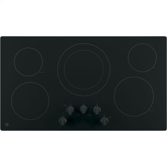 "GE 36"" Radiant Electric Cooktop Black JP3036DLBB"