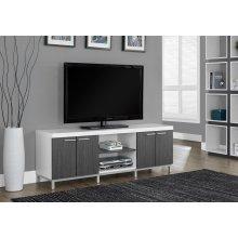 "TV STAND - 60""L / WHITE / GREY"