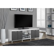 "TV STAND - 60""L / WHITE / GREY"