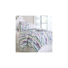 Ophelia Duvet Cover & Shams, WHITE, STAND