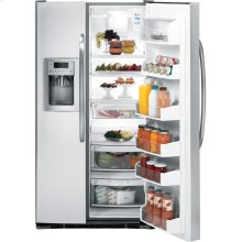 GE® ENERGY STAR® 25.4 Cu. Ft. Side-By-Side Refrigerator with Dispenser (This is a Stock Photo, actual unit (s) appearance may contain cosmetic blemishes. Please call store if you would like actual pictures). This unit carries our 6 month warranty, MANUFACTURER WARRANTY and REBATE NOT VALID with this item. ISI 31726