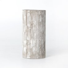 White Washed Planter-tall
