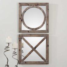 Baci e Abbracci Square Mirrors, S/2