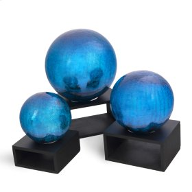 Crackle Blue Balls (Set of 3)