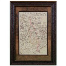 """Large : 37"""" x 37"""" Texas County Map"""