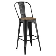 Promenade Metal Bar Stool in Black