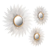 Soleil Mirrors, Set Of 3