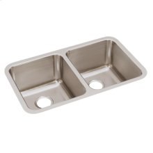 """Elkay Lustertone Classic Stainless Steel 30-3/4"""" x 18-1/2"""" x 10"""", Equal Double Bowl Undermount Sink"""