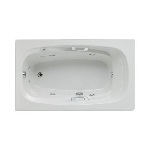 "Easy-Clean High Gloss Acrylic Surface, Rectangular, Whirlpool Bathtub, Standard Package, 36"" X 60"""