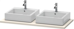 Console For Above-counter Basin And Vanity Basin, Taupe Decor