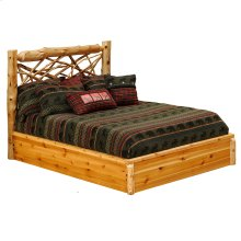 Twig Platform Bed - Cal King - Natural Cedar