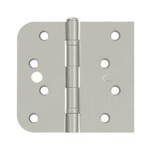 "Special Hinge for Fiber Glass Doors, 4"" x 4 1/4"" x 5/8"" Radius x SQ, Ball Bearings, Security Stud - Brushed Nickel"