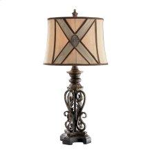 Prg Antq Gld Mtl Scrl Lamp