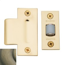Satin Brass and Black Adjustable Roller Latch