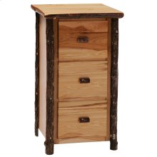 Three Drawer File Cabinet Natural Hickory
