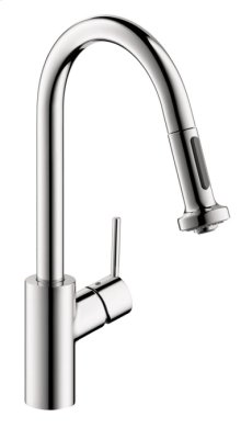 Chrome HighArc Kitchen Faucet, 2-Spray Pull-Down, 1.5 GPM