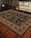 INDIA HOUSE IH48 BLK RECTANGLE RUG 2'6'' x 4'