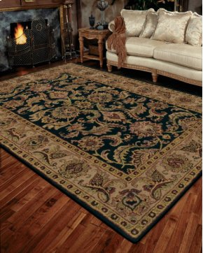INDIA HOUSE IH48 BLK RECTANGLE RUG 5' x 8'